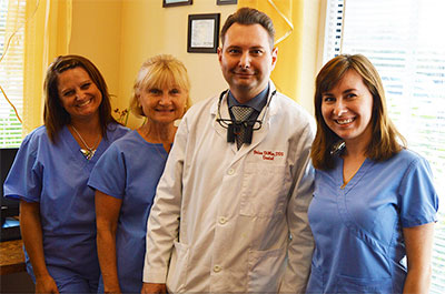 Team members at DiMeo Family Dental.