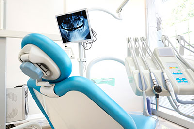 a dental chair like the ones at DiMeo Family Dental